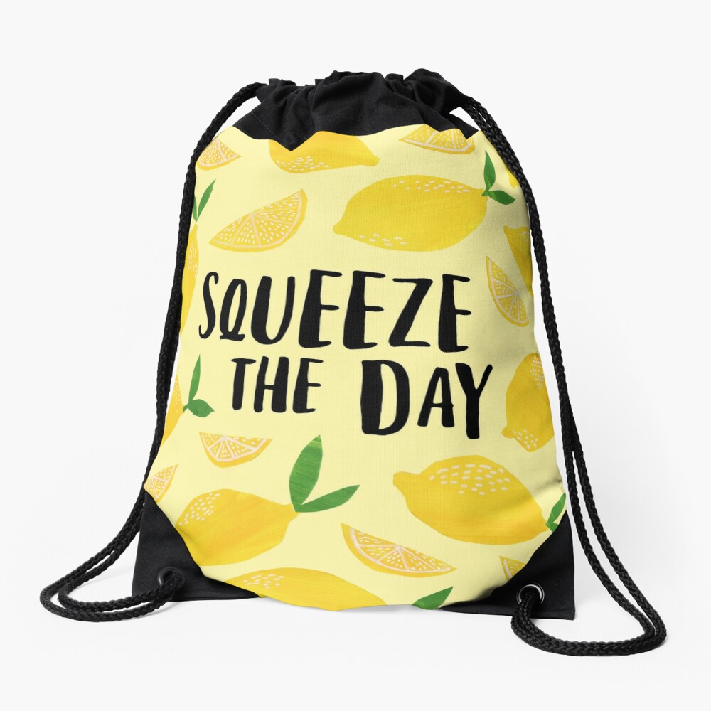 Squeeze the Day Drawstring Bag