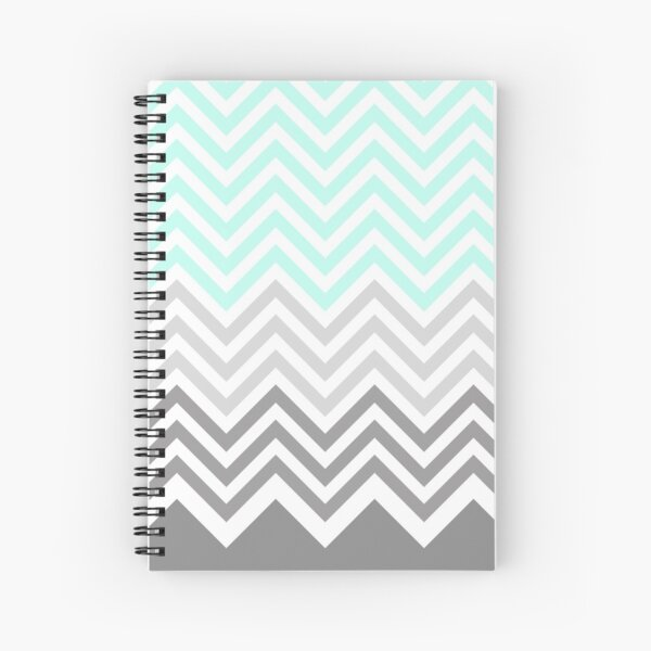 chevron teal grey Spiral Notebook