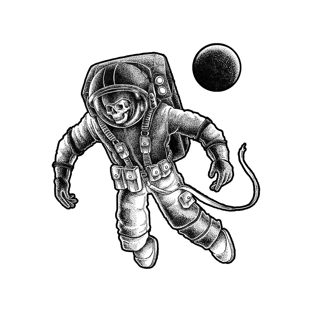 Astronaut Dead in space by marviox