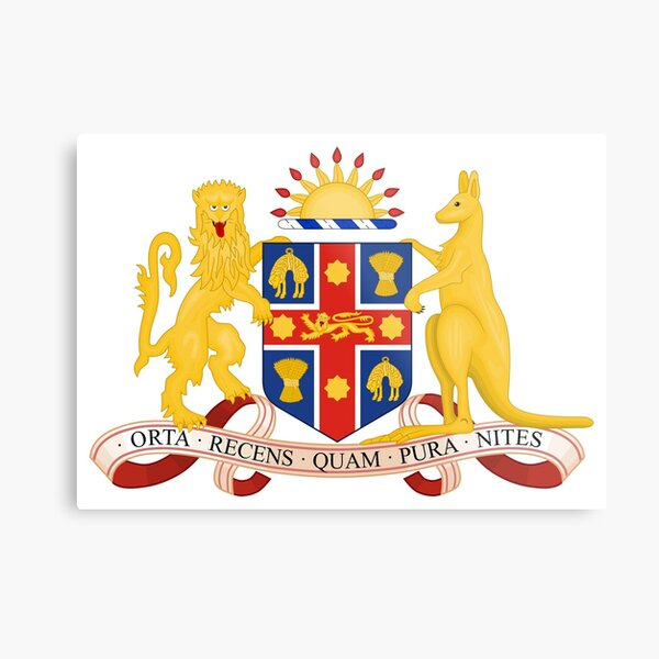Coat of Arms of New South Wales, Australia Metal Print