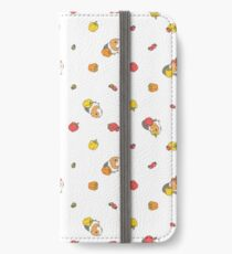 Bell pepper, cherry tomatoes and Guinea pigs pattern  iPhone Wallet/Case/Skin