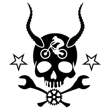 Demon Bicycle Skull and Wrench Bones by brsrkr