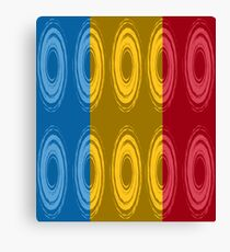 Ten whirlpools in three primary colors Canvas Print