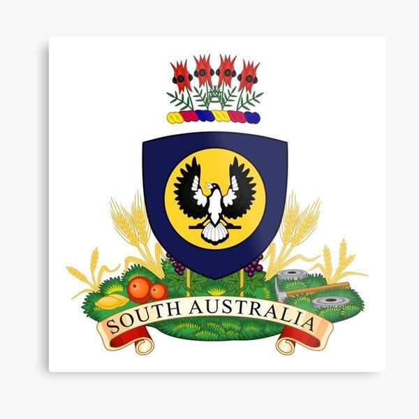 South Australia Coat of Arms, Australia Metal Print