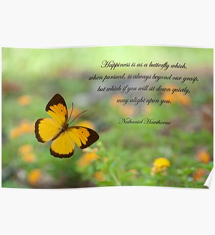 Happiness is like a butterfly . . . Poster