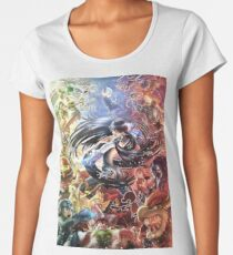 Smash 4 Bayonetta Reveal Illustration Women's Premium T-Shirt