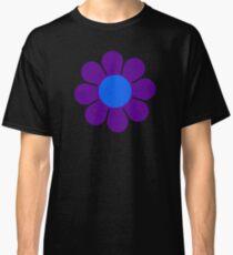 Purple Blue Hippie Flower Classic T-Shirt