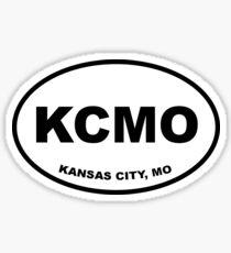 KCMO Black and White Sticker