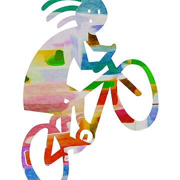 Silhouette of Cyclist Pank by eribubble
