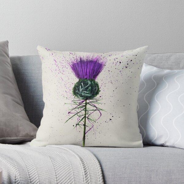 Purple Thistle Elegant style Throw Pillow