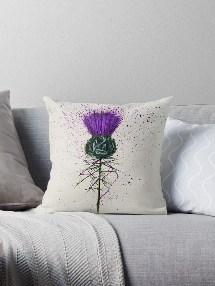 Purple Thistle Elegant style by Amazingraceart