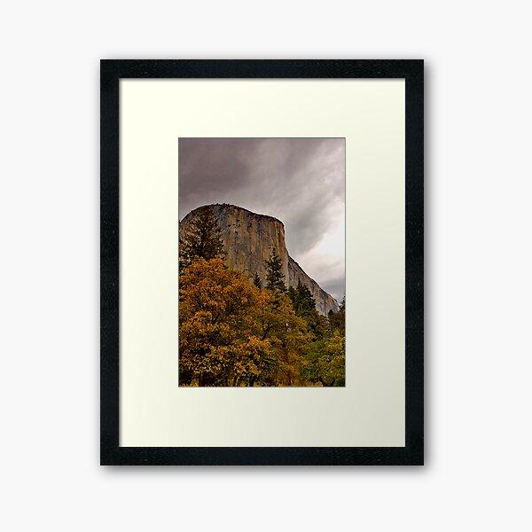 El Capitan Yosemite Fall Colors Framed Art Print