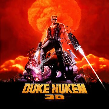 Duke Nukem 3D retro game print (High Contrast) by hangman3d