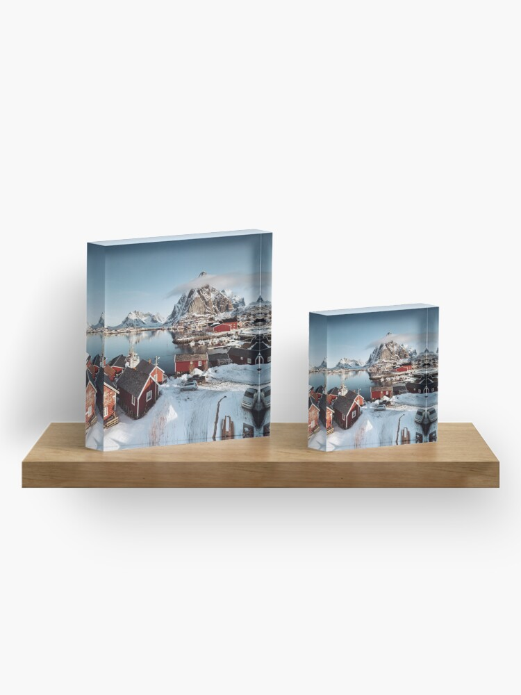 Alternate view of reine at lofoten Acrylic Block