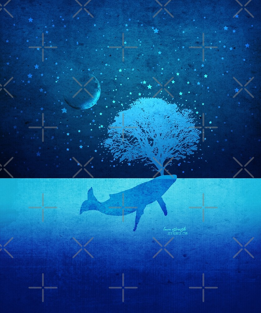 Whimsical Whale Spouting Tree by jitterfly