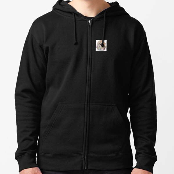 Colorful Squares Zipped Hoodie