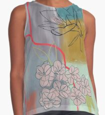Abstract Lily Flower Painting Sleeveless Top