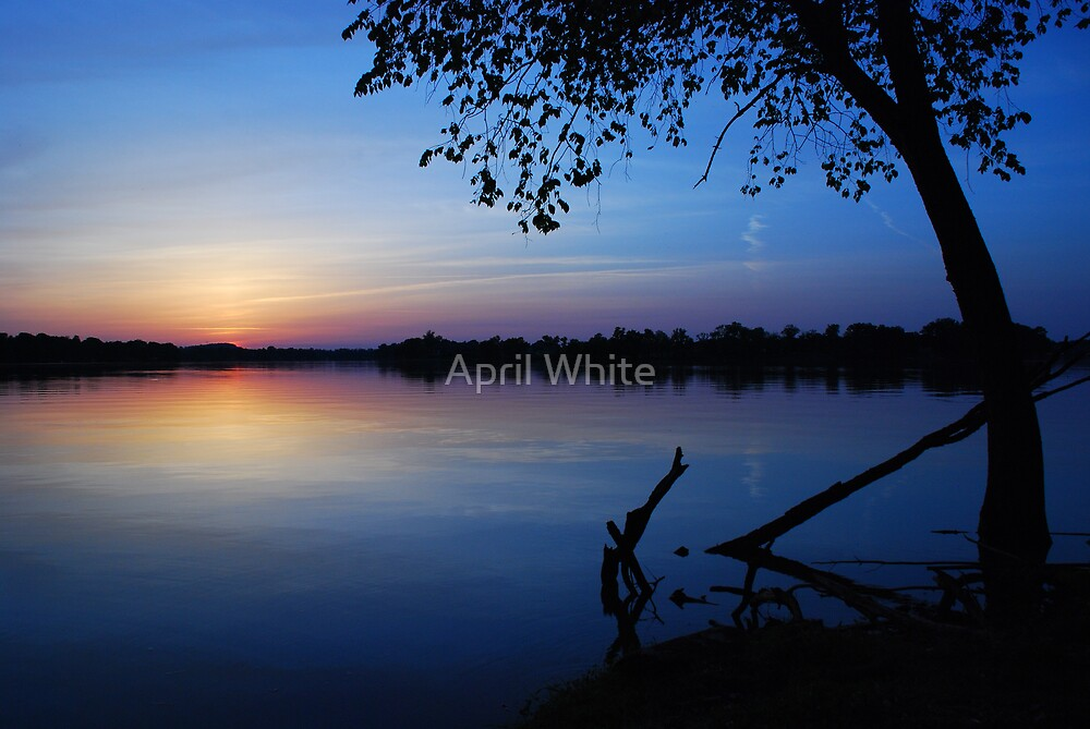 Sunset Blue by April White