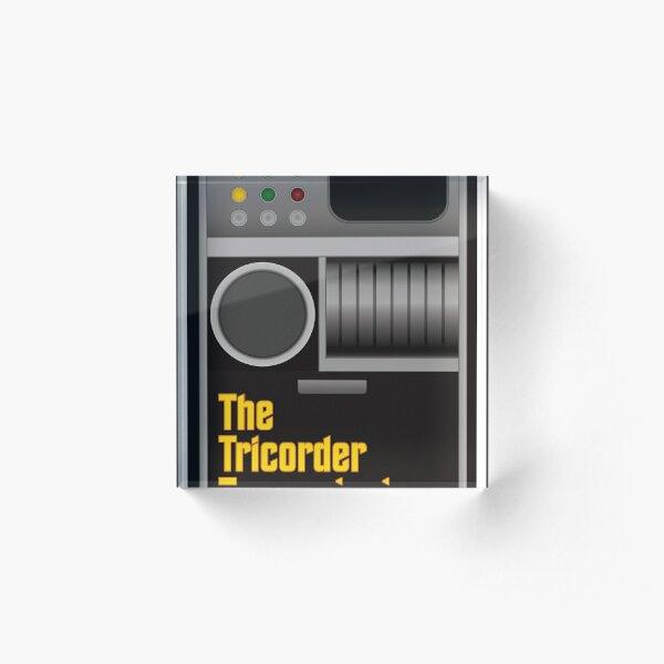 The Tricorder Transmissions Logo Acrylic Block