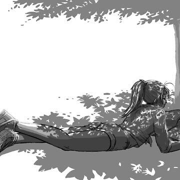 «Fille sous un arbre» par le-grom