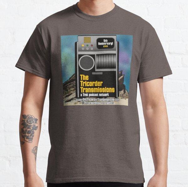 The Tricorder Transmissions 5th Anniversary Logo Classic T-Shirt