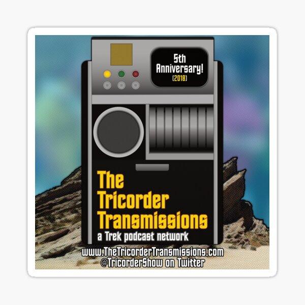 The Tricorder Transmissions 5th Anniversary Logo Sticker