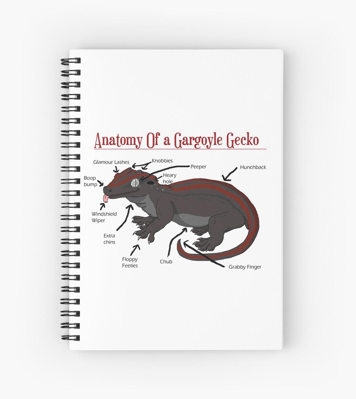 Cuadernos de espiral «Anatomía de una gárgola Gecko» de ...