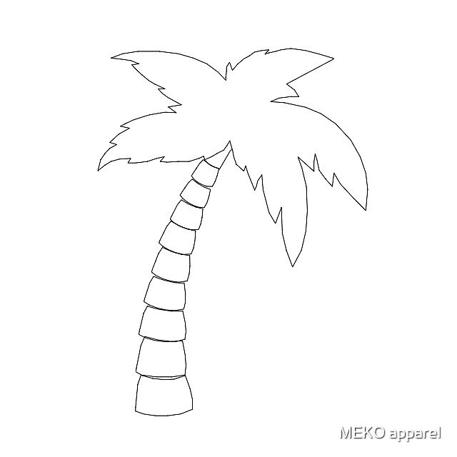 Quot Palm Tree Outline Quot By Meko Apparel Redbubble