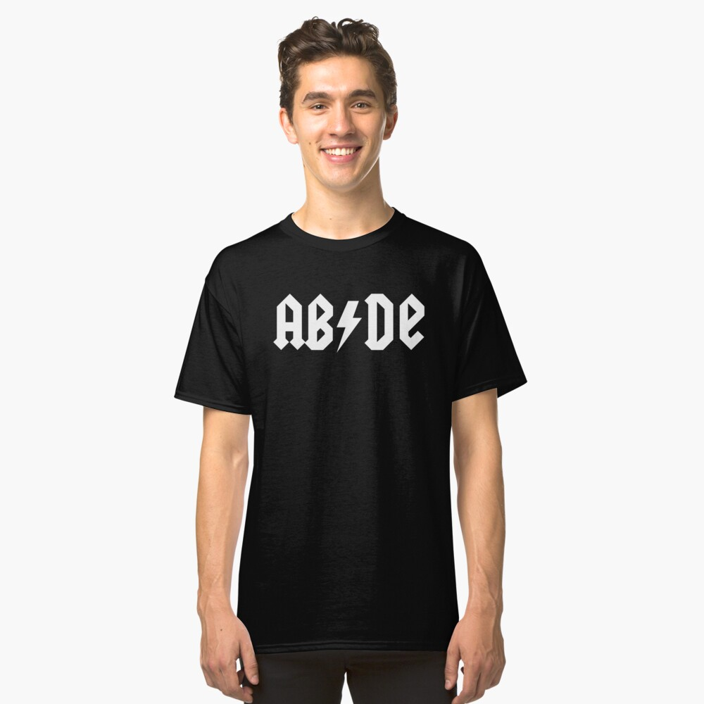The Big Lebowski 'ABIDE' ACDC Style Classic T-Shirt Front