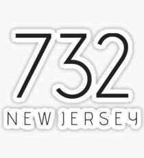 NEW JERSEY 732 • BLACK Sticker