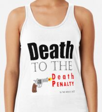 Tod der Todesstrafe im Nahen Osten! Racerback Tank Top