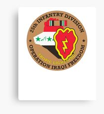 25th Infantry Division Iraq War Veteran Canvas Print