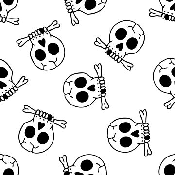 skull seamless doodle pattern by zizimentos