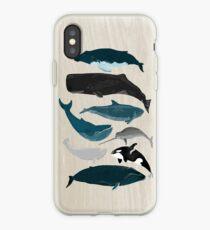 Vinilo o funda para iPhone Ballenas - Pod de ballenas Posters por Andrea Lauren