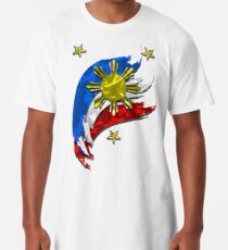 Philippinische Flagge Longshirt