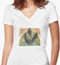 FERNS  Women's Fitted V-Neck T-Shirt