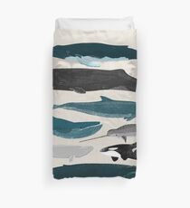 Whales - Pod of Whales Print by Andrea Lauren Duvet Cover