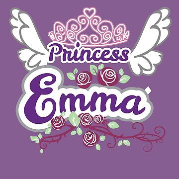 Princess Emma - Customized Kids Name, Princess Name, Girls Name Gifts by heavyhebi