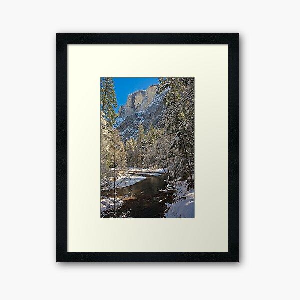 Half Dome in Snow  Framed Art Print
