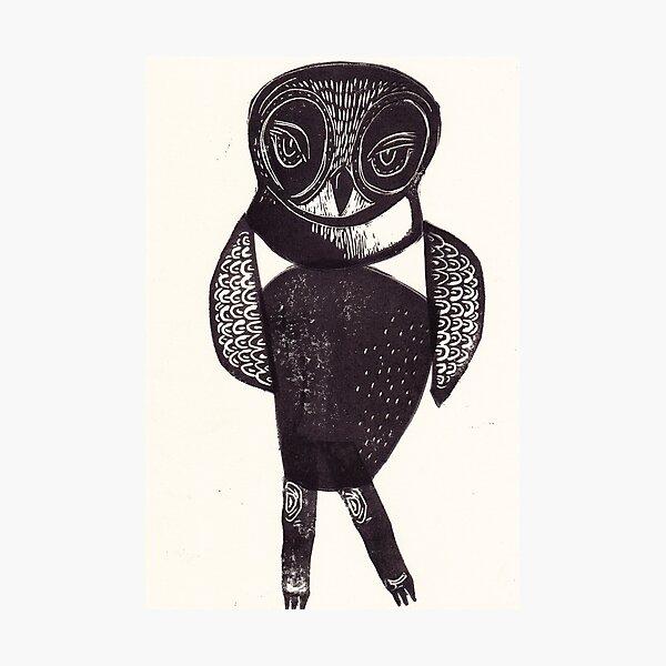 Sassy Owl funky folk art style bird with attitude Photographic Print