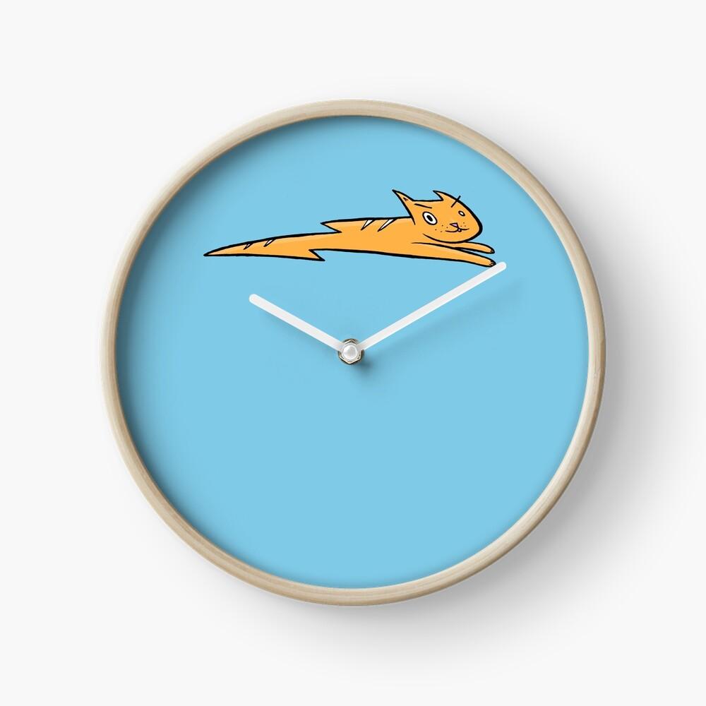 Lightning cat Clock