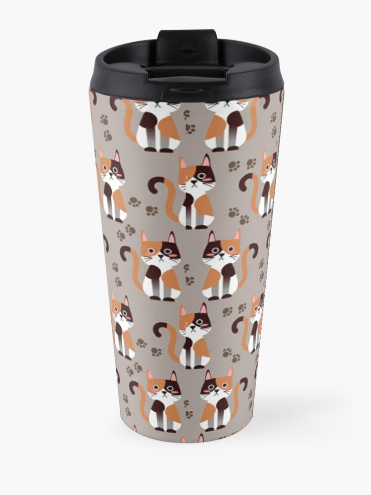 Alternate view of Calico Cats - Lots of Calico Cats Travel Mug
