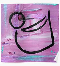 Bow pose abstract Poster