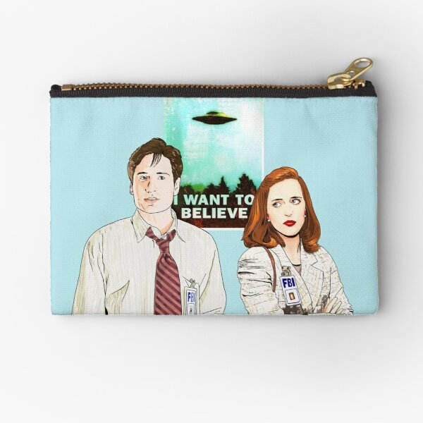X-files inspired flat zipper pouch ready to ship