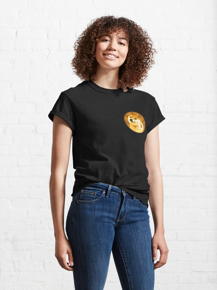 Alternate view of Dogecoin Logo Classic T-Shirt