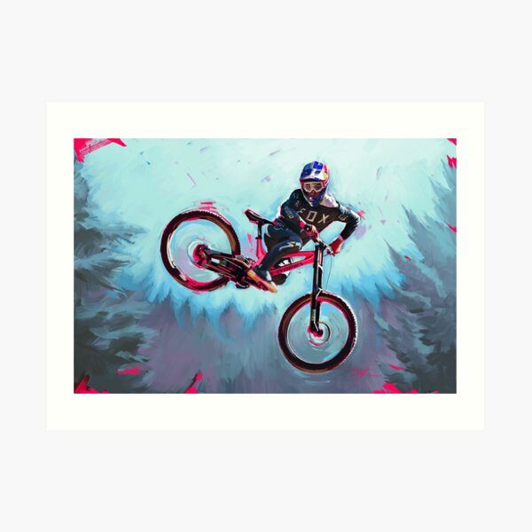 Finn Iles at the Crankworx Whip off Art Print