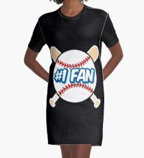 Baseball Number 1 Fan Graphic T-Shirt Dress