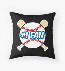 Baseball Number 1 Fan Throw Pillow