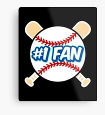 Baseball Number 1 Fan Metal Print