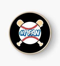 Baseball Number 1 Fan Clock